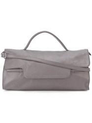 Zanellato Flap Closure Tote Bag Grey