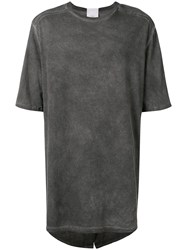Lost And Found Rooms Oversized Parka T Shirt Grey