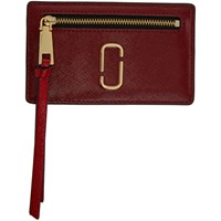 Marc Jacobs Red Snapshot Zip Card Holder