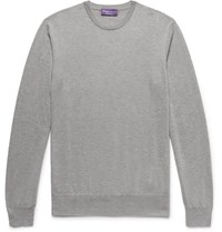 Ralph Lauren Purple Label Slim Fit Cashmere Sweater Light Gray