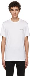 Givenchy White Sequin Logo T Shirt