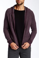 Vince Wool And Cashmere Blend Raglan Zip Hoodie Purple