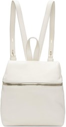 Kara Off White Small Leather Backpack