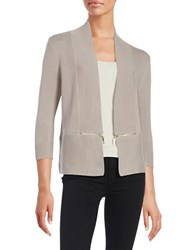 Ivanka Trump Open Knit Cardigan Stone
