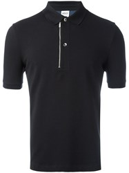 Armani Collezioni Zip Detail Polo Shirt Black