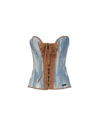 Denny Rose Topwear Tube Tops Women Blue