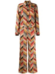 M Missoni Graphic Print Jumpsuit Neutrals