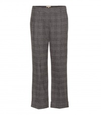 Michael Kors Cropped Stretch Wool Trousers Grey