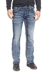 Men's Rock Revival 'Raynon' Straight Leg Jeans Medium Blue
