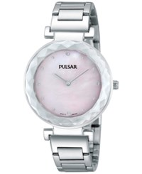 Pulsar Women's Stainless Steel Bracelet Watch 32Mm Pm2079