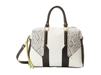 Steve Madden Blogan Snake Trim Satchel Black Satchel Handbags
