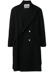 Vivienne Westwood Oversized Double Breasted Coat Cotton Polyester Modal Virgin Wool Black