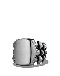 David Yurman Armory Signet Ring Silver