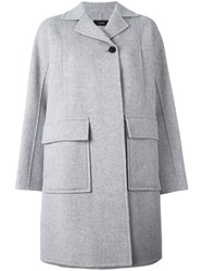 Joseph Single Button Boxy Coat Grey
