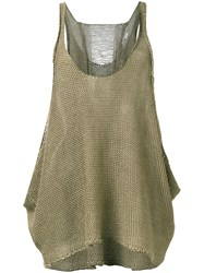 Stella Mccartney Distressed Knit Vest Women Linen Flax 44 Green
