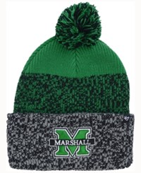 47 Brand '47 Marshall Thundering Herd Static Cuff Knit Hat Green Heather Charcoal