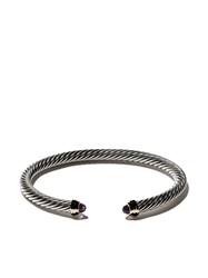 David Yurman Cable Classics Sterling Silver Amethyst And 14Kt Yellow Metallic