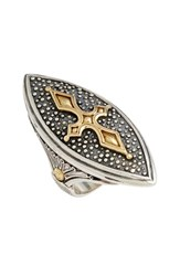 Women's Konstantino 'Hebe' Marquise Cross Ring Silver Gold