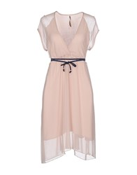 Emmaandgaia Dresses Short Dresses Women Light Pink