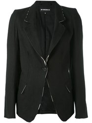 Ann Demeulemeester Flared Sleeves Blazer Women Cotton Rayon Viscose 38 Black