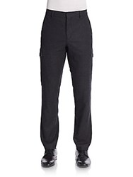 Vince Wool Blend Cargo Pants Charcoal