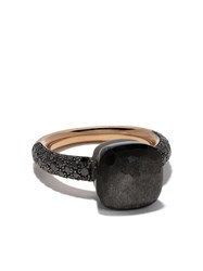 Pomellato 18Kt Rose Gold And Titanium Nudo Obsidian And Black Diamond