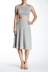 Abound A Line Ribbed Skirt Gray