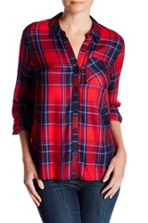 Como Vintage Long Sleeve Plaid Shirt Red