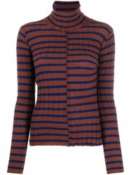 Nude Striped Roll Neck Top 60