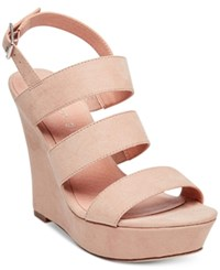 Madden Girl Blenda Platform Wedge Sandals Blush