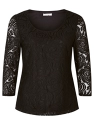 Kaliko Rose Lace Top Black