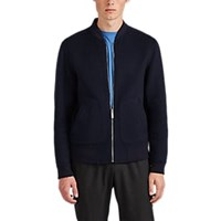 Theory Double Faced Cashmere Bomber Jacket Navy
