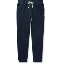 Reigning Champ Slim Fit Loopback Cotton Jersey Sweatpants Blue