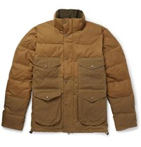 Filson Cruiser Quilted Cotton Canvas Down Jacket Brown