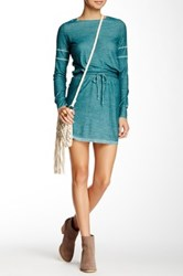 Go Couture Vintage Washed Drawstring Dress Multi