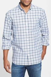 Bonobos Tattersall Long Sleeve Oxford Standard Fit Shirt Gray