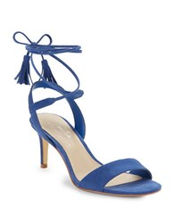 424 Fifth Giovanna Suede Sandals Smokey Cobalt