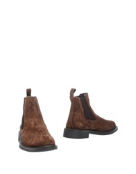 Gold Brothers Ankle Boots Dark Brown