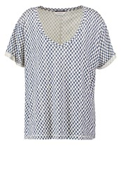 Maison Scotch Print Tshirt Blue