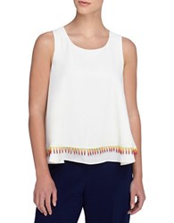 Catherine Malandrino Free Swing Two Tiered Axel Top White
