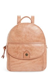 Frye Melissa Mini Leather Backpack Red Dusty Rose