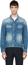 Paul Smith Bule Denim Faded Western Jacket