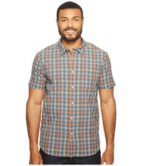 The North Face Short Sleeve Getaway Shirt Zinnia Orange Plaid Men's Short Sleeve Button Up Multi