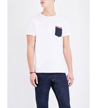 Tommy Hilfiger Logo Detailed Stretch Cotton T Shirt Classic White