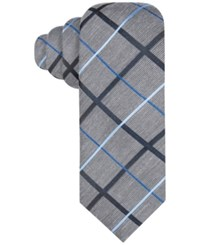Alfani Red Men's Bowery Grid Tie Only At Macy's Blue