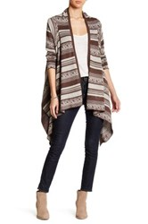 Angie Draped Open Cardigan Brown