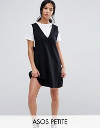 Asos Petite 2 In 1 Tank Dress With T Shirt Black