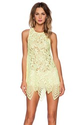 For Love And Lemons Summer Lilly Mini Dress Yellow