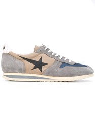 Haus By Ggdb Star Print Lace Up Sneakers Unisex Cotton Leather Suede Rubber 42 Grey