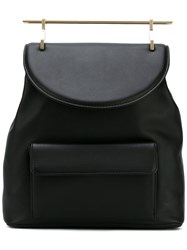 M2malletier Flap Backpack Women Calf Leather One Size Black